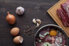 Marinade für Fleisch Stockfotografie