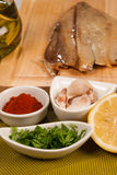 Marinade ingredients Royalty Free Stock Images