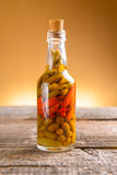 Marinaded chili peppers Stock Photography
