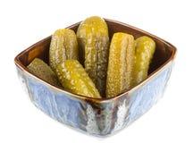 Marinaded cucumber Stock Photos