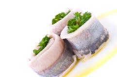 Marinaded herring Stock Photos
