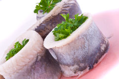 Marinaded herring Royalty Free Stock Image