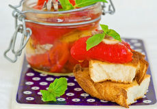 Marinaded in Italian sweet pepper Royalty Free Stock Image