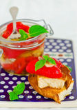Marinaded in Italian sweet pepper Stock Photography