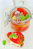 Marinaded in Italian sweet pepper Stock Images