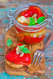 Marinaded in Italian sweet pepper Stock Photos