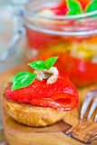 Marinaded in Italian sweet pepper Stock Photo