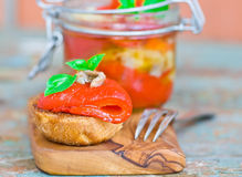 Marinaded in Italian sweet pepper Royalty Free Stock Photo