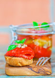Marinaded in Italian sweet pepper Royalty Free Stock Photography