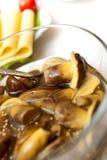 Marinaded mushrooms Stock Photo