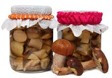 Marinaded mushrooms Royalty Free Stock Photos