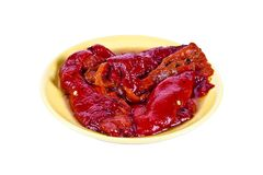 Marinaded sweet pepper Royalty Free Stock Image