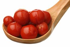 Marinaded tomatoes Royalty Free Stock Images