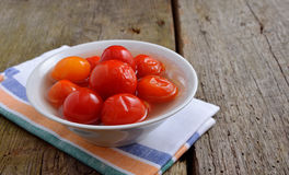Marinaded tomatoes Royalty Free Stock Photography