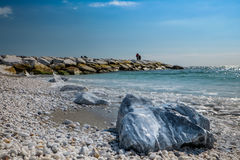 MARINADI PISA, ITALIEN - Avril 24, 2017: Sikt av havet och royaltyfri fotografi