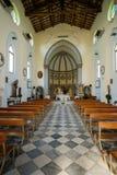 MARINADI PISA, ITALIEN - Avril 24, 2017: Sikt av kyrkan, Mari arkivbild