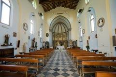 MARINADI PISA, ITALIEN - Avril 24, 2017: Sikt av kyrkan, Mari fotografering för bildbyråer