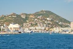 Marinaen på Cabo San Lucas, Mexico Arkivfoton
