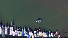 Marinafartyg i Paraty - Rio de Janeiro - Brasilien stock video