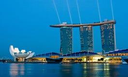 Marinafjärd Singapore Arkivfoto