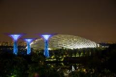 MARINAFJÄRD, SINGAPORE - Juni 12 2016: Archite för Sigapore marinafjärd Arkivbild