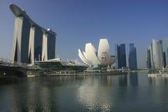 Marinafjärd under dagen, Singapore Royaltyfri Bild