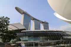 Marinafjärden Sands hotellet i Singapore Royaltyfri Fotografi
