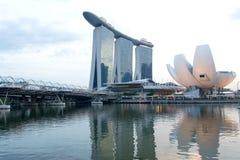 MarinafjärdSands och strand, Singapore Arkivfoto