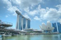 MarinafjärdSands och strand, Singapore arkivbild