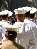 Marinai di US Navy dalla parte posteriore Esercito di US Navy immagine stock libera da diritti