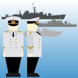Marinai sovietici durante la seconda guerra mondiale Immagini Stock Libere da Diritti