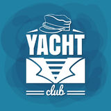 Marinaio bianco dell'yacht club dell'iscrizione Fotografia Stock
