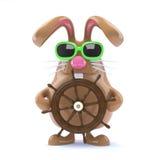 marinaio del coniglietto di 3d pasqua Fotografia Stock