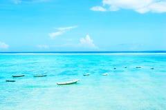 Marinaio del paesaggio con i pescherecci Fotografia Stock Libera da Diritti