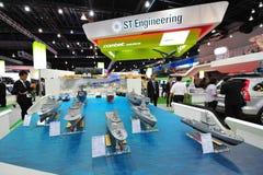 Marinaio della st che montra la sua flotta della nuova generazione al largo, navi impavide e litorali di missione a Singapore Air immagine stock