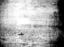Marinaio in oceano infinito - immagine astratta Immagini Stock Libere da Diritti