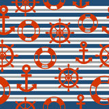 Marinaio Seamless Pattern con fondo Immagine Stock Libera da Diritti
