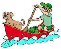 Marinaio sul fiume Royalty Illustrazione gratis