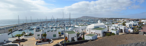 Marinaområdet av Playa Blanca Lanzarote Royaltyfria Foton