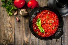 Marinara italiano do molho de tomate fotografia de stock royalty free