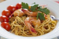 Marinara van de spaghetti stock foto