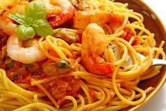 marinaraspagetti Royaltyfri Bild