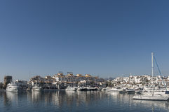 Marinas in Andalusia, Puerto Banus in Marbella Royalty Free Stock Photography