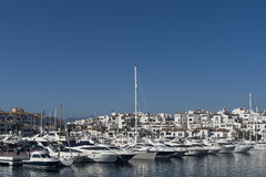 Marinas in Andalusia, Puerto Banus in Marbella Stock Photography