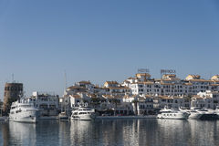 Marinas in Andalusia, Puerto Banus in Marbella Stock Photo