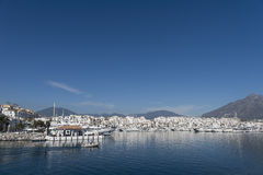 Marinas in Andalusia, Puerto Banus in Marbella Stock Photos