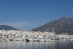 Marinas in Andalusia, Puerto Banus in Marbella Stock Images