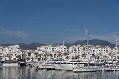 Marinas in Andalusia, Puerto Banus in Marbella Royalty Free Stock Photos