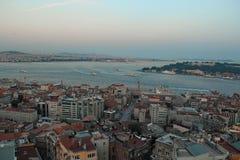 Marinasikt i Istanbul Fotografering för Bildbyråer