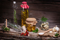 Marinate garlic Stock Photos
